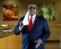 Dwaine Caraway was once considered a likely mayoral candidate as Mike Rawlings approached the end of his second term. But now, Caraway will spend the next four years in a federal prison camp in West Texas.(Guy Reynolds/Staff Photographer)