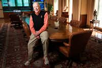 T. Boone Pickens, who's about to turn 91, photographed with his conference room table.(Smiley N. Pool/Staff Photographer)