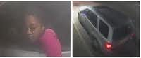 Police released these photos of a suspected vehicle and driver thought to be involved in a Feb. 9 robbery in Casa View.<br>(Dallas Police Department<br>)