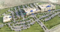 Cook Children's of Fort Worth plans to build this hospital in Prosper, just 3 miles from an even larger project planned by Children's Health of Dallas. (Cook Children's Health)