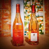 Scarbolo 'il ramato' Pinot Grigio and Attems 'Ramato' Pinot Grigio are ramato wines, pinot grigio in ros  form.(Alfonso Cevola)