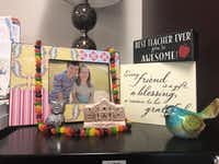 <p>A jellybean necklace made by one of Tyra Damm's seventh-grade students strings together dozens of the candies. The gift replaces Damm's long-lost version from the '80s.</p>(Tyra Damm)