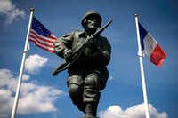 A statue honors the U.S. soldiers of the 82nd Airborne Division near Utah Beach in Normandy, France.(2014 File Photo/Agence France-Presse/Getty Images)