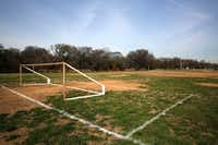 The D'Feeters Soccer Club often practiced at Anderson Bonner Park in Dallas in the 1980s.(Rose Baca/Staff Photographer)
