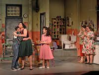 The cast of <i>Real Women Have Curves</i>, playing at the Dallas Theater Center through May 19, 2019.(Karen Almond/Dallas Theater Center)