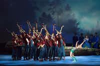 Will Tuckett's epic, effects-laden version of <i>Pinocchio</i> premiered in 2017 at the National Ballet of Canada. Featuring ax-wielding lumberjacks who help free the title character from his birth tree, Texas Ballet Theater is now giving the elaborate production its U.S. debut in Dallas and Fort Worth.(Aleksandar Antonijevic)