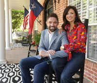 State Rep. Jeff Leach, R-Plano, and his wife, Becky, at their North Texas home. (Jason Janik/Special Contributor)