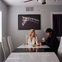 Misty Keasler's <i>Angel &amp; Steve</i> shows Las Vegas performers in a domestic setting, away from the glamour of the Strip.&nbsp;(Misty Keasler/The Public Trust)