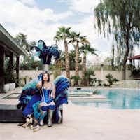 A Las Vegas performer sits poolside in Misty Keasler's <i>Christine</i>.(Misty Keasler/The Public Trust)