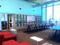 Corgan's lounge area in the new Luminary building in downtown Dallas.(Steve Brown)
