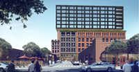 Houston-based developer Hines plans to start construction later this year on an office tower and retail building in Deep Ellum.(Hines)