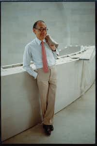Architect I.M. is pictured inside the Morton H. Meyerson Symphony Center he designed in 1989.(Dallas Symphony Orchestra)