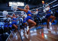 The Dallas Mavericks Dancers skipped onto the court for player introductions before the team faced the Memphis Grizzlies at American Airlines Center in Dallas on April 5.(Tom Fox/Staff Photographer)
