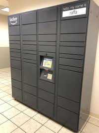 What the Amazon lockers look like that are inside Stein Mart stores. (Stein Mart /Courtesy photo )