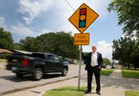 Attorneys Russell Bowman (pictured) and Scott Stewart are challenging the city of Irving and several other cities in the state on the use of red light cameras on the grounds of constitutionality and violation of state law.(Tom Fox/Staff Photographer)