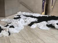 Recent rains left a soggy mess at the Meyerson Symphony Center this month.(Dallas Symphony Orchestra)