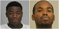 Michael Bluitt (left) and Terrence Johns both face a capital murder charge in the May 17, 2019, fatal shooting of Brandon Jovan Mapps. Mapps was found with multiple gunshot wounds at the Preston Valley Apartments in the 5600 block of Spring Valley Road.(Dallas County jail)