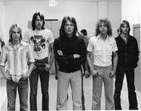 Mark Ridlen, second from right, was a member of the fictional band Rapid Fire, as well as real-life local bands Quad Pi and Lithium X-Mas(Courtesy Clint Howard)