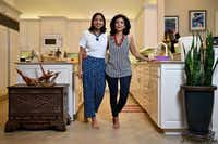 Food writer Priya Krishna, left, and her mother Ritu Krishna at Priya's family home in Dallas.(Ben Torres/Special Contributor)