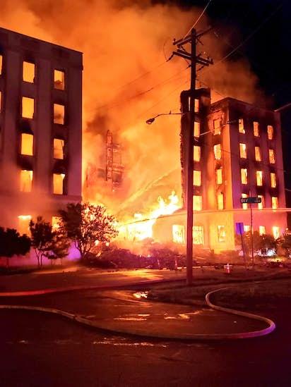 Crews Demolish Facade Of Ambassador After Fire Destroys Dallas