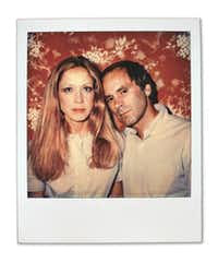 """In a time before the word """"selfie,"""" a color Polaroid of Carol Black, left, and artist Paul Black.(Paul Black/Barry Whistler Gallery)"""