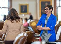 Rep. Jessica Gonzalez (right), D-Dallas(Thao Nguyen/Special Contributor)
