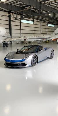 The Pininfarina GT Battista was at Million Air in Addison on Friday.(Battista)