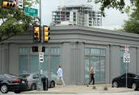 The old Restoration Hardware store on Knox Street was recently torn down for the new project.(Tom Fox/Staff Photographer)