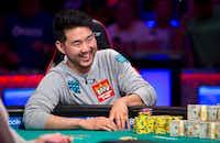 "Last year's World Series of Poker ""No-limit Hold'em"" world champion, John Cynn, won an $8.8 million jackpot.(Jamie Thomson/World Series of Poker)"