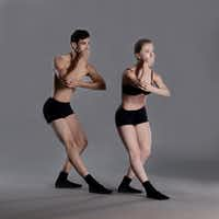 Bruce Wood Dance's Seth York and Olivia Rehrman evoking restrictions on freedom of expression in Iran in choreographer Garrett Smith's <i>Forbidden Paths</i>.(Brian Guilliaux)