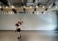 Bruce Wood Dance's Seth York and Lauren Hibbard rehearse choreographer Garrett Smith's <i>Forbidden Paths</i>.(Lawrence Jenkins/Special Contributor)