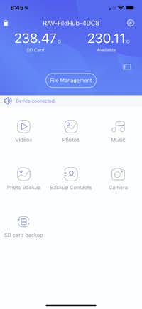 The main screen of the Filehub app on iPhone(Jim Rossman/Staff)