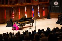 Naomi Yamaguchi performs during the quarterfinals of the Cliburn Junior International Piano Competition at SMU's Caruth Auditorium on Monday, June 3, 2019, in Dallas. (Smiley N. Pool/Staff Photographer)