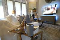 An Amazon Experience Centers model home built by Lennar in Dallas features a second-generation Amazon Echo that controls the window blinds as well as televisions and lighting.(2018 File Photo/Staff)