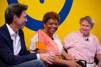 Panelist Sanderia Faye (center) speaks at the The Dallas Festival of Books and Ideas event, The Literary City, at Interabang Books in Dallas on May 31, 2019. Other panelists were Oscar Casares (left) and and Ben Fountain.(Allison Slomowitz/Special Contributor)