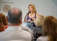 <i>D-Day Girls</i> author Sarah Rose speaks as part of The Inspired City session during the Dallas Festival of Books at the Dallas Museum of Art on June 1, 2019.(Lawrence Jenkins/Special Contributor)