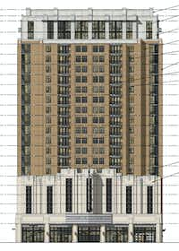 The revamp tower design has an art deco inspired front.(Street Lights Residential)