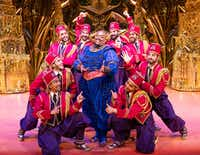 Major Attaway plays the Genie in <i>Aladdin </i>in the Dallas Summer Musicals production being staged at the Music Hall at Fair Park this month.(Deen van Meer)