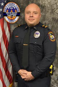 Grand Prairie police Officer A.J. Castaneda served in the department for five years. He is the third officer in the department's history to die in the line of duty.(Grand Prairie Police Department)