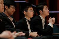 Competitors wait for the Quarterfinalist announcement of the Cliburn International Junior Piano Competition and Festival at Caruth Auditorium on the SMU Campus in Dallas.(Ralph Lauer/Cliburn Foundation)