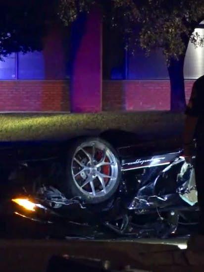 Lamborghini driver dies in crash blocks from car shop he owned in