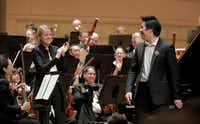 Shuan Hern Lee from Australia performs  his Final Round concerto with conductor Ruth Reinhardt and the Dallas Symphony Orchestra for the finals of the Cliburn International Junior Piano Competition and Festival at the Morton H. Meyerson Symphony Center in Dallas,(Ralph Lauer/Cliburn Foundation)