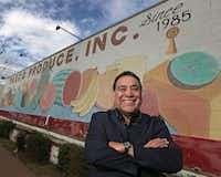 Taxco Produce, Inc. founder Alfredo Duarte at his business in Dallas.(Louis DeLuca/Staff Photographer)