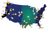 The top 30 metros in the Walton Family Foundation's ranking.(Walton Family Foundation)