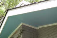 Haint blue is a pale shade of blue that is traditionally used to paint porch ceilings and under eaves.(Howard Garrett)