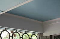 Haint blue is a pale shade of blue that is traditionally used to paint porch ceilings.(Howard Garrett)