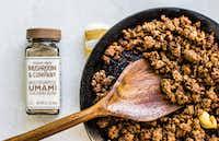 Umami Ground Beef uses mushroom umami seasoning from Trader Joe's.(Rebecca White)