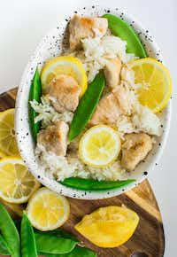 Lemon Garlic Chicken Fried Rice is an easy weeknight dinner.(Rebecca White)