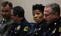 Dallas Police Chief U. Renee Hall attends a City Council meeting Wednesday, June 12, 2019 at Dallas City Hall. (Ryan Michalesko/Staff Photographer)