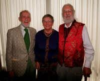 From the archives: From left,. Ned Fritz, Genie Fritz and Dr. Geoffrey Stanford  received Environmental Excellence Awards  at a luncheon hosted by Save Open Space, Friends of the Trinity River and several other environmental groups.(Ariane Kadoch/File photo)
